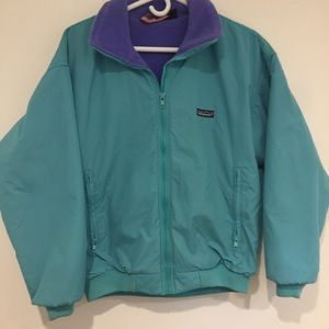 Patagonia Jacket Women's Size 10 teal w/purple